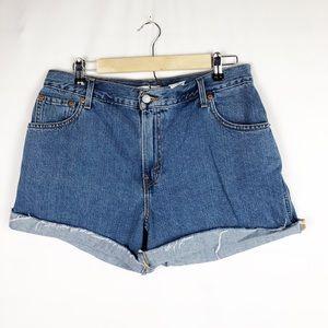LEVI'S Women's 550 Denim Shorts EUC in Size 14